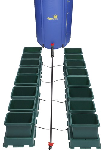 Sistema Easy2grow 16 macetas y tanque 225 L.