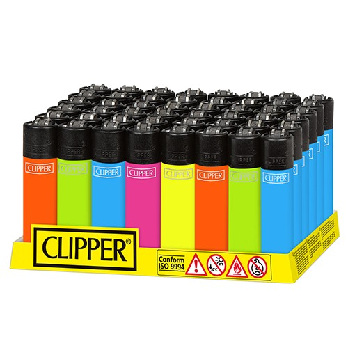 Mechero Clipper Solid Fluo CP11R 48 uds  ()