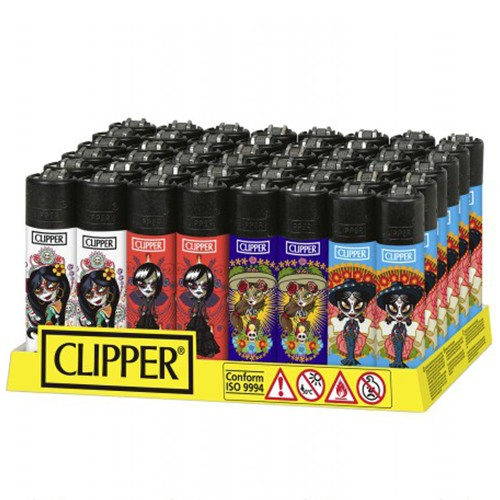 Mechero Clipper Catrina Maya CP11RH 48uds  ()