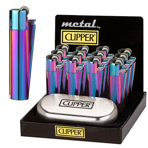 Mechero Clipper Icy Colours - 12 uds.