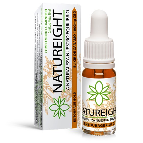 Elixir de Cañamo 1000 mg CBD Entourage Gold Natureight 10 ml  ()