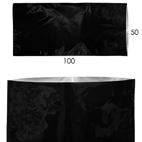 Bolsa Sellable Metalizada Negra 50x100cm   ()