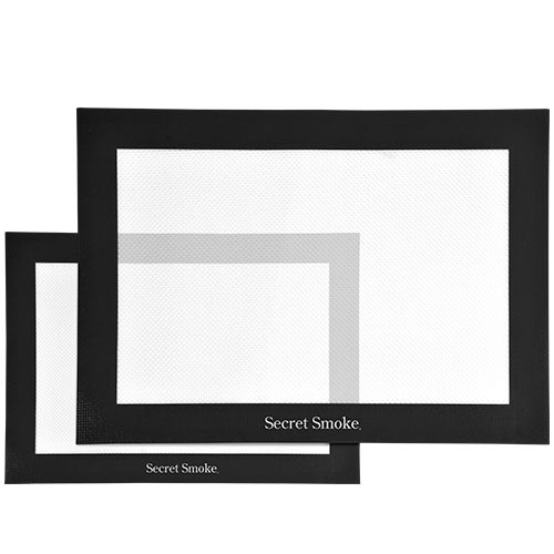 Mantel silicona negro Gr. 40x30 cm Secret Smoke
